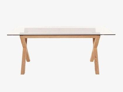 Mesa escritorio madera vidrio diseno moderno actual mobler for Mesas escritorio diseno