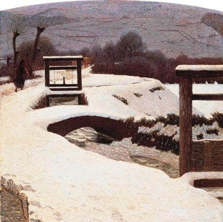 La neve, 1906, Giuseppe Pellizza da Volpedo. Italian Pointillist Painter (1868 - 1907)