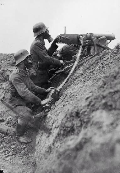 German machine gun MG08