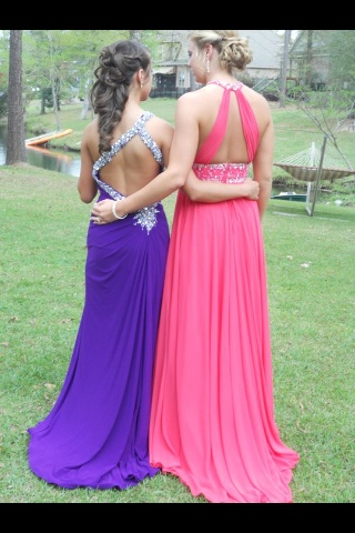 searched prom hair on pinterest and Sarah and Rachael's backs popped up!!!! …