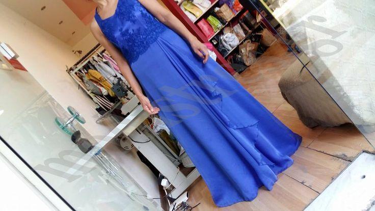 Φόρεμα Σατέν Μουσελίνα  Δαντέλα στο μπούστο Δείτε το μαζί με όλη την δουλειά μας και στο site μας http://bit.ly/1NoZW7D
