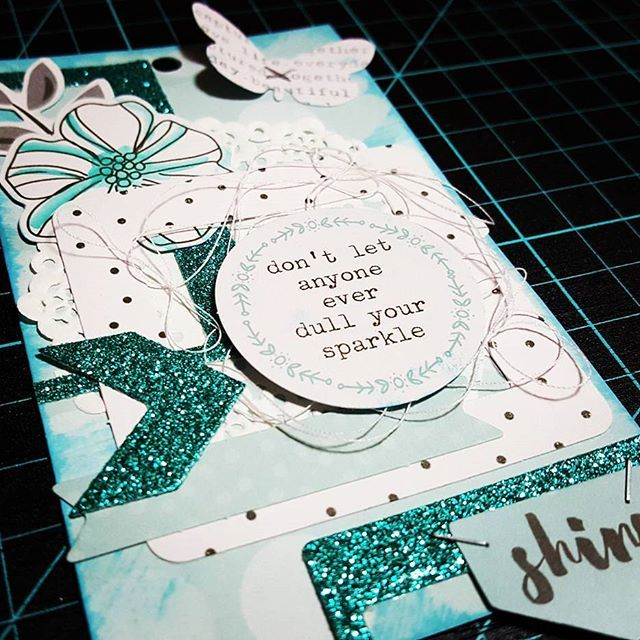 Cute little tag I made for the thank you tag book for @donnadowney from all the…