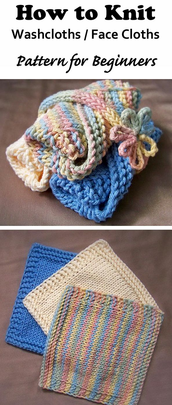 Washcloth Knitting Patterns For Beginners : 27 Best images about Knitting Patterns & Crochet Patterns on Pinterest ...