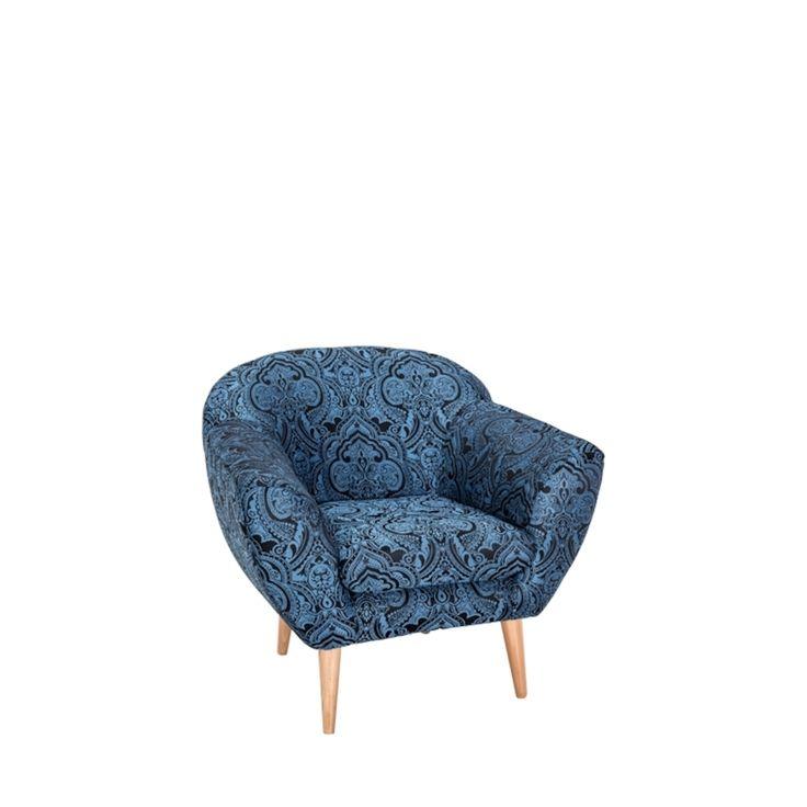 Toptip | Sessel Stoff blau