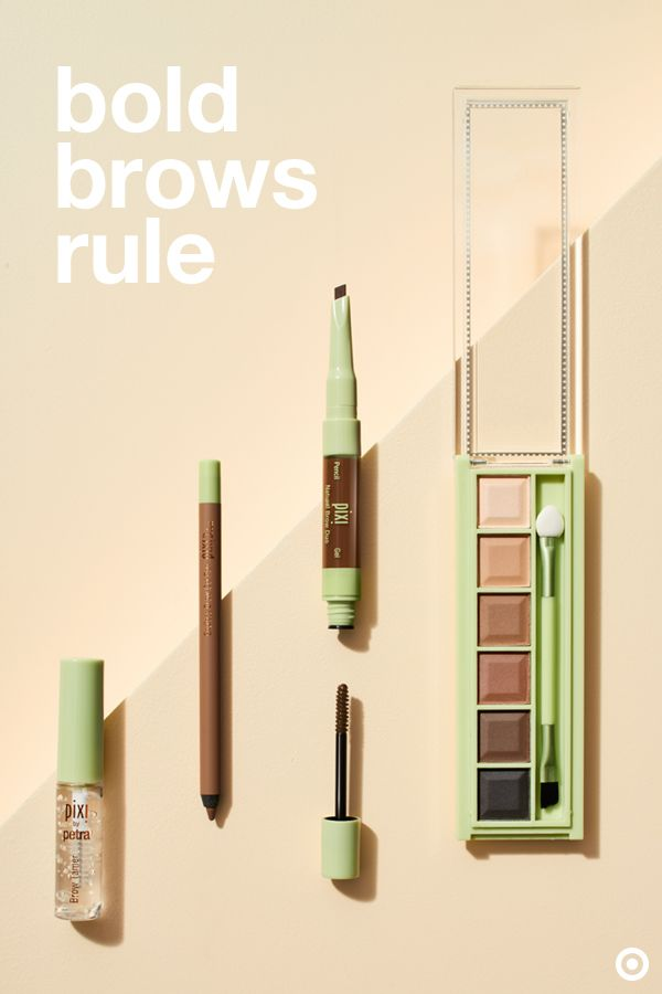 """Natural-looking brows are all of the rage right now. And, Pixi has a ton of natural products that allow you to mix & match in order to customize to your brow needs. Clear gel is a quick way to set your brow shape, and gel pencils let you fill in and define, section by section. A brow duo with an angled tip lets you draw on precise """"hairs"""", while the tinted gel helps shape, set, and adds just a hint of color. A powder palette adds density to your brows and offers blendable shades."""