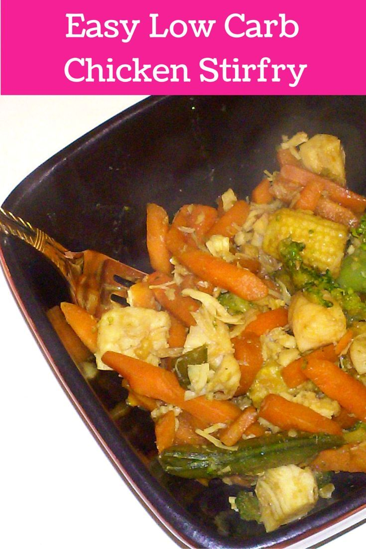 Quick and easy low carb meal check out my chicken stir fry recipe