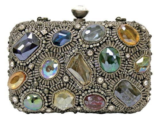 Mary Frances Bags Winter 2013 Silver Prism Multi Silver Bead Purse Handbag NEW  #MaryFrances #EveningBag