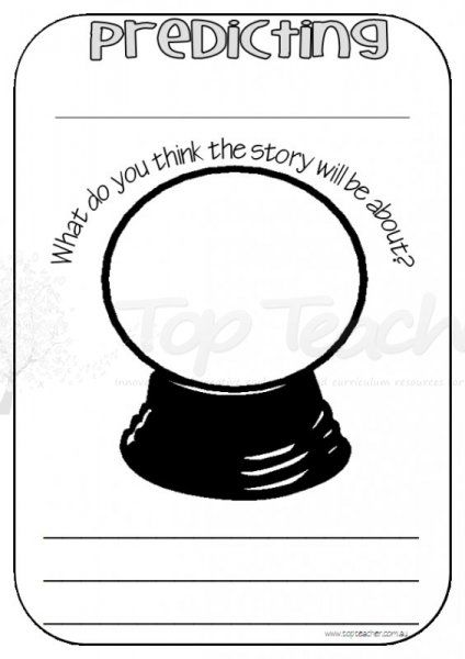 This can be a great writing exercise before reading a text! Students can draw and/ or write what they predict will happen in the book based on the cover and title. Since, students are writing it down, they can always go back to their initial prediction as they revise their predictions as they read. This will also help students understand what a prediction is.