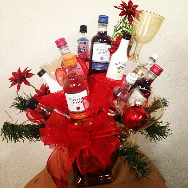 liquor basket i made best dirty santa gift ever liquor candy