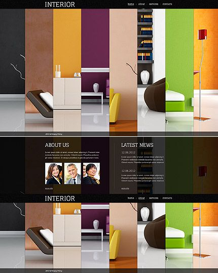 Interior Design Furniture Websites With Pics And Prices ~ Best images about colorful website designs on pinterest