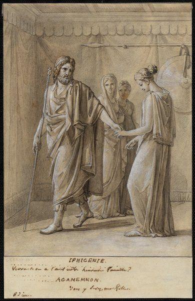 Grand Patrimoine @GrandPatrimoine  Agamenon fait ses adieux à sa fille #Iphigénie de #Racine par Gérard 1793-1801 #GraphicBattle #livres #litterature #art #drawing #dessin #exhibition #ExpoFabrique #Angers