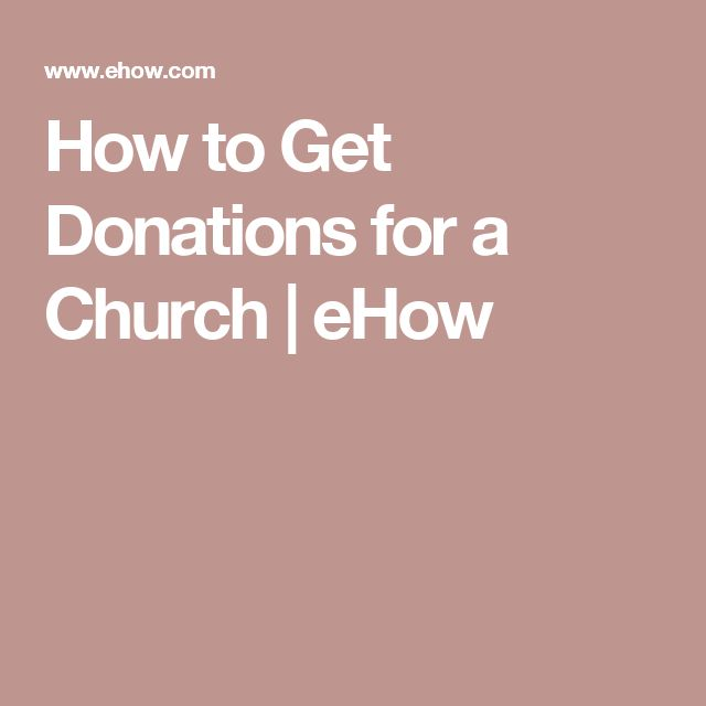 How to Get Donations for a Church | eHow
