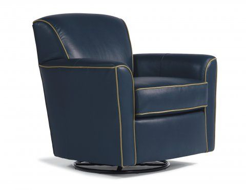 Kingman Leather Swivel Glider by #Flexsteel via Flexsteel.com