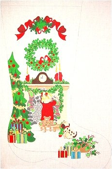 11 best Needlepoint Stocking Canvases - KC Needlepoint images on ...
