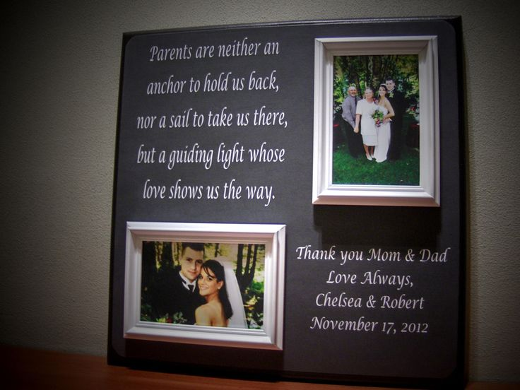 Wedding Present For My Mom : Parents Wedding Gift, Father of Mother of Thank You, Parents Are ...
