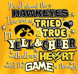 iowa+hawkeye+football | Iowa Hawkeyes Football T-Shirts - Tried And True - Yell And Cheer