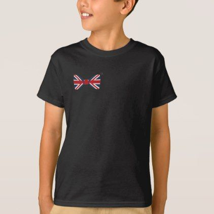 Kid' S Tee-shirt - Union Jack Bow Tie T-Shirt - kids kid child gift idea diy personalize design