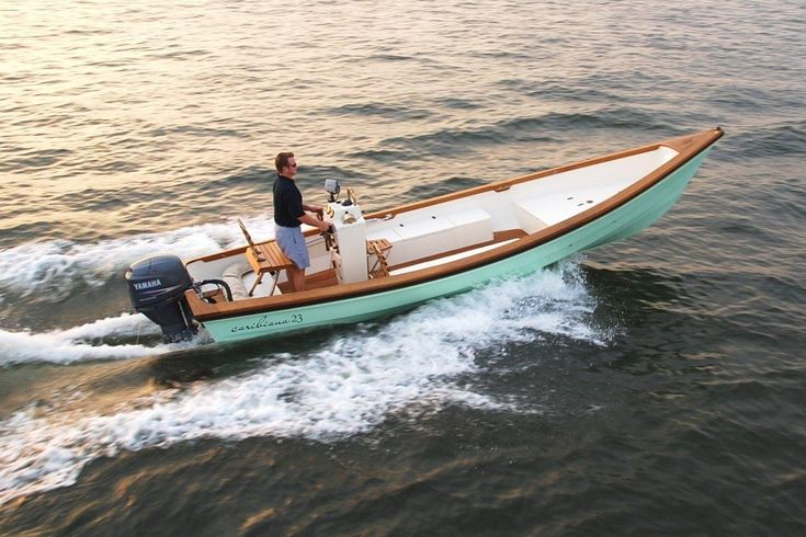 The Caribiana 23, a built to order, custom-colored hull ...