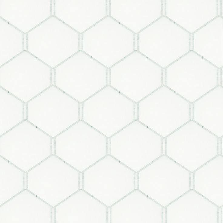 Signet Beehive Petite Solid Mosaic, Thassos and Carrara Polished