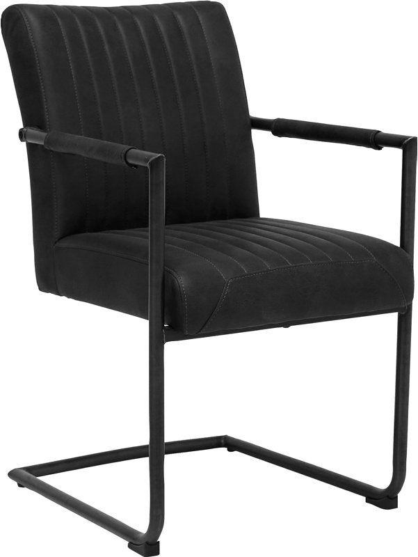 Pitou stol medarmleneLakkert jern, 100% polyester mikrofiber, Slitt
