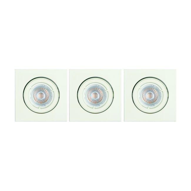 Oprawy oczkowe LED Diall GU10 IP23 3 szt.