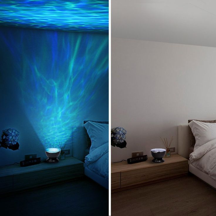 Led Ocean Wave Projector Night Light With 7 Colors Light