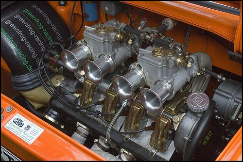 NSU TT engine: Weber-Doppelvergaser (twin carburetors)