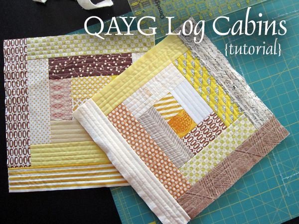 QAYG Log Cabins tutorial by StitchedInColor, via Flickr