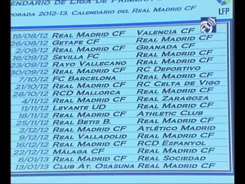 Video Real Madrids La Liga 2012/13 calendar