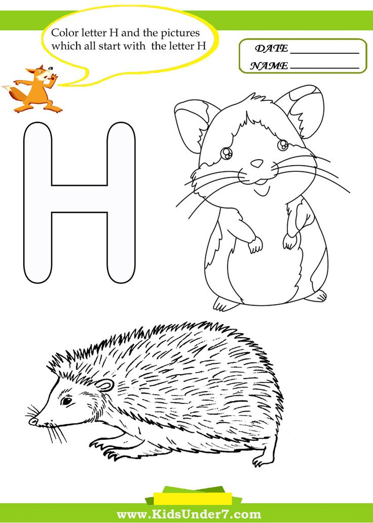 Things That Start With The Letter H W Coloring Pages Of Alphabet Words For Kids