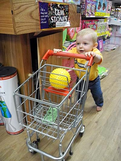 """Jaydon shops for a new toy"" On our most recent visit Jaydon decided to take it on himself to grab a cart and go shopping.: Visit Jaydon, Jaydon Shops, Kids Stuff, Jaydon Decid, Kids Crafts, Interesting Specialty Toys"