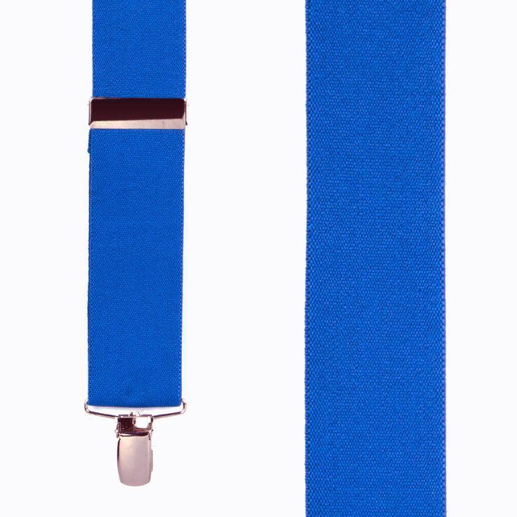 Solid Color Clip Suspenders - 1.5 Inch Wide