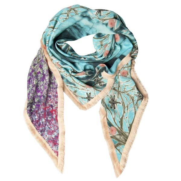 spring in Turquoise Scarf