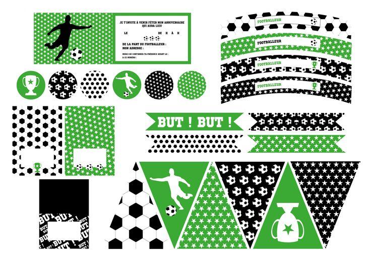 Printable anniversaire foot décoration à imprimer - Achat / Vente