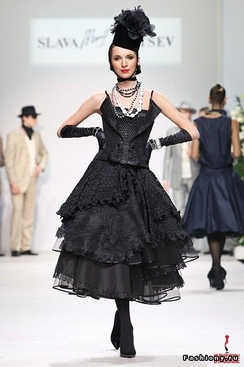 collection of Slava Zaitsev at Moscow Fashion Week spring-summer of 2009.
