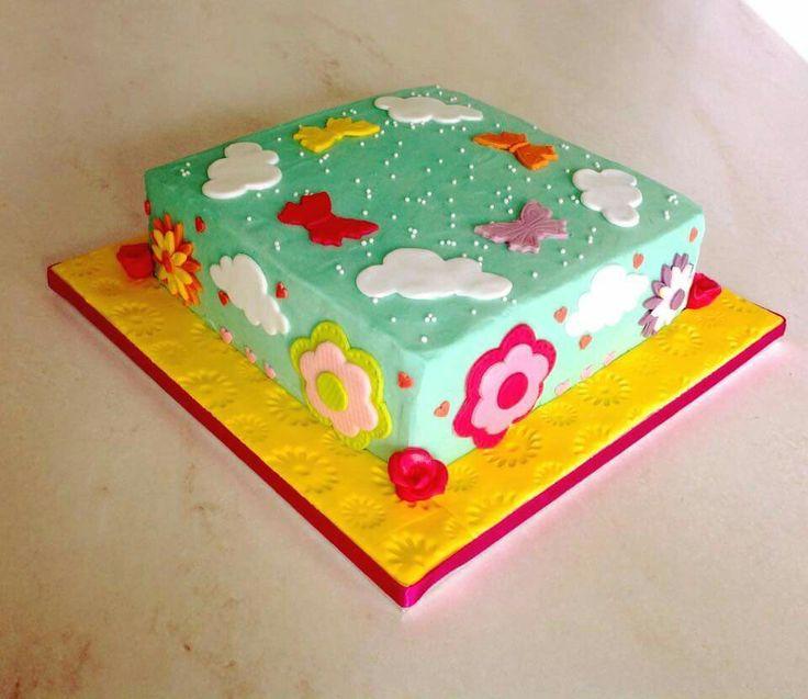 Spring birthday girly cake