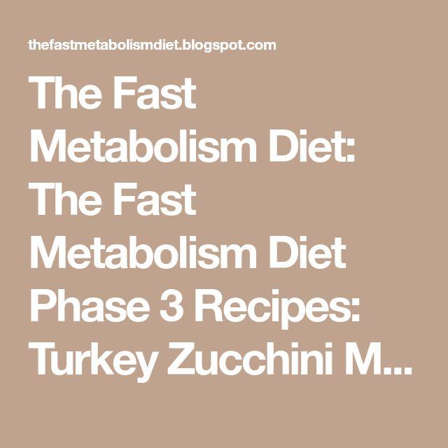 The Fast Metabolism Diet: The Fast Metabolism Diet Phase 3 Recipes: Turkey Zucchini Meatballs