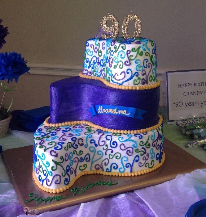 Grandma Wilma S 90th Birthday Cake 90th Birthday Cakes