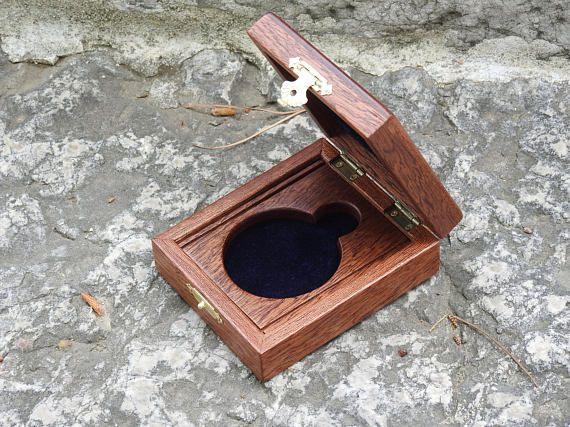 Wooden Hand Made Pocket Watch Box / Mahongany wood 2