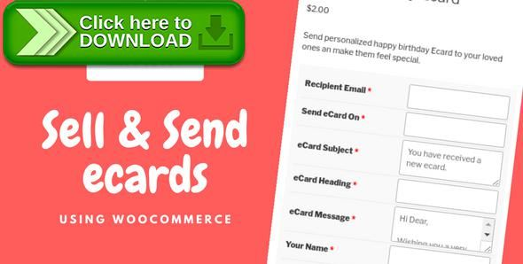 [ThemeForest]Free nulled download WooCommerce eCards WordPress Plugin from http://zippyfile.download/f.php?id=57808 Tags: ecommerce, e-card, e-cards, ecard, ecard plugin, ecards, ecards plugin, gift card, gift cards, greeting card, online card, sell ecard, send ecard, woocommerce, woocommerce ecard, wordpress ecard
