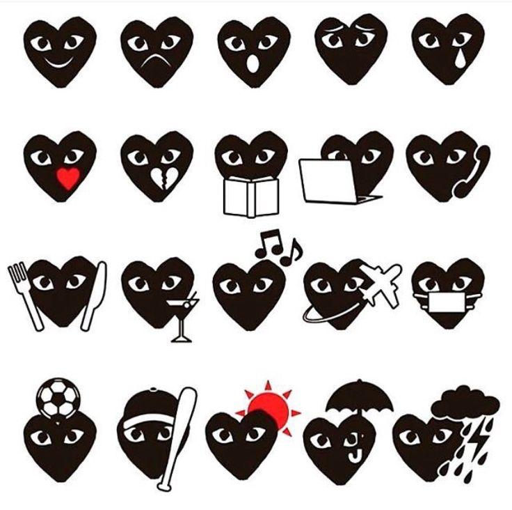 comme des garcons emoji 2016 from ℹ︎nstagram