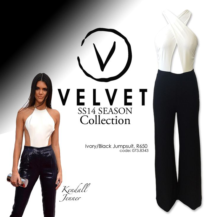 Striking black and white jumpsuit by Velvet, R650 at YDE stores. SS14 collection #DLstyle Follow us on instagram at @dlbrands.