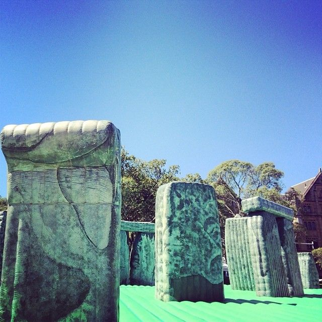 A jumping (castle!) Stonehenge in Hyde Park | Sydney Festival 2014