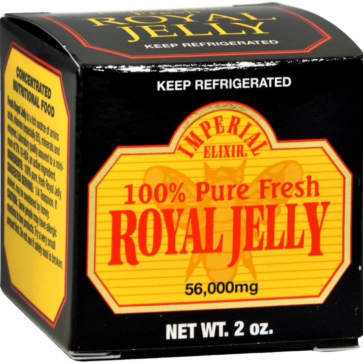 Imperial Elixir Pure Fresh Royal Jelly - 2 oz - Imperial Elixir Pure Fresh Royal Jelly Description:  Royal Jelly is the substance that transforms a worker bee into the queen bee naturally rich in natural hormones B-Complex vitamins amino acids essential fatty acids vitamins minerals enzymes acetylcholine lecithin collagen and gamma globulin. Disclaimer These statements have not been evaluated by the FDA. These products are not intended to diagnose treat cure or prevent any disease.