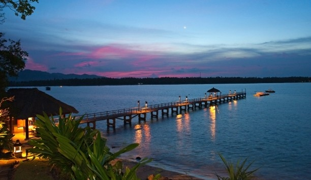 The Oberoi, Lombok : jetée sur la baie de Medana.