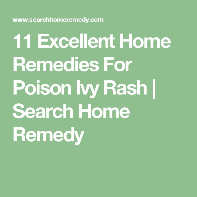 11 Excellent Home Remedies For Poison Ivy Rash | Search Home Remedy