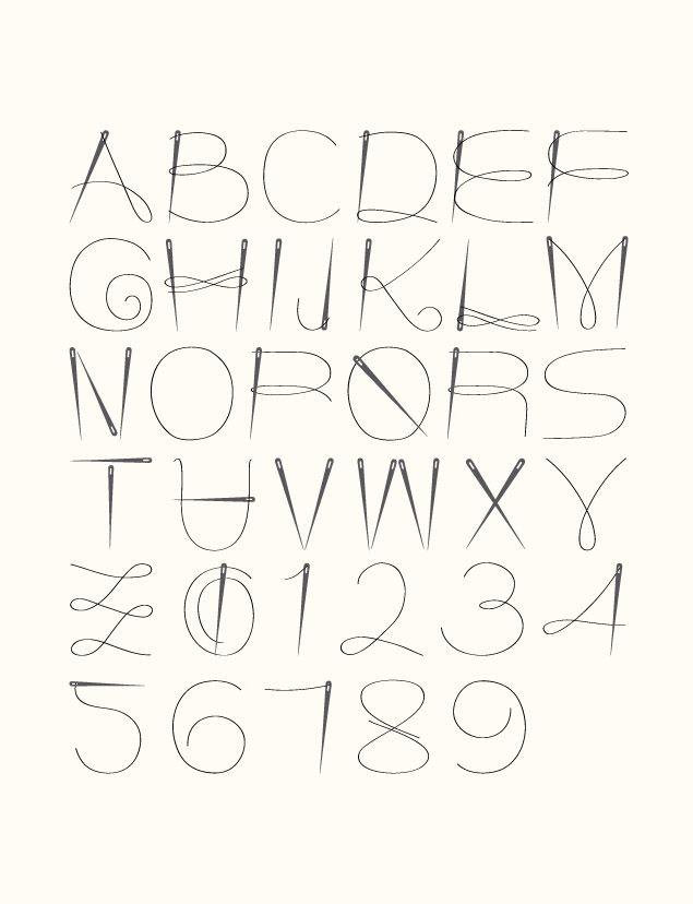 Aguja e hilo font