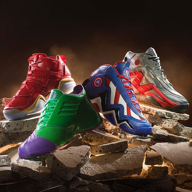 Avengers assemble! We're celebrating San Diego Comic Con with a list of the very best comic book colabs. Hit our website for the full list! #sneakerfreaker #snkrfrkr #adidas #marvel #avengers #basketball #captainamerica #ironman #hulk #thor #comics #comicbooks #marvelcomics #crazy 97 #realdeal #tmac #topten2000 #SDCC #SDCC2017  via SNEAKER FREAKER MAGAZINE OFFICIAL INSTAGRAM - Fashion  Advertising  Culture  Beauty  Editorial Photography  Magazine Covers  Supermodels  Runway Models