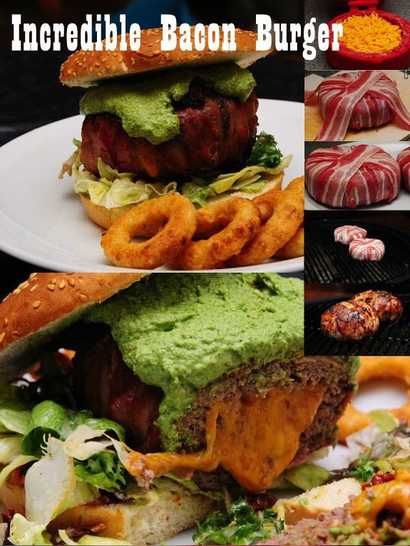 Cheese Stuffed & Bacon Wrapped Burger! - HowToInstructions.Us