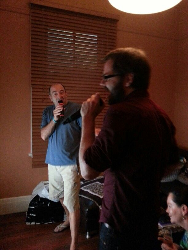 karaoke comp with Gary and Paul